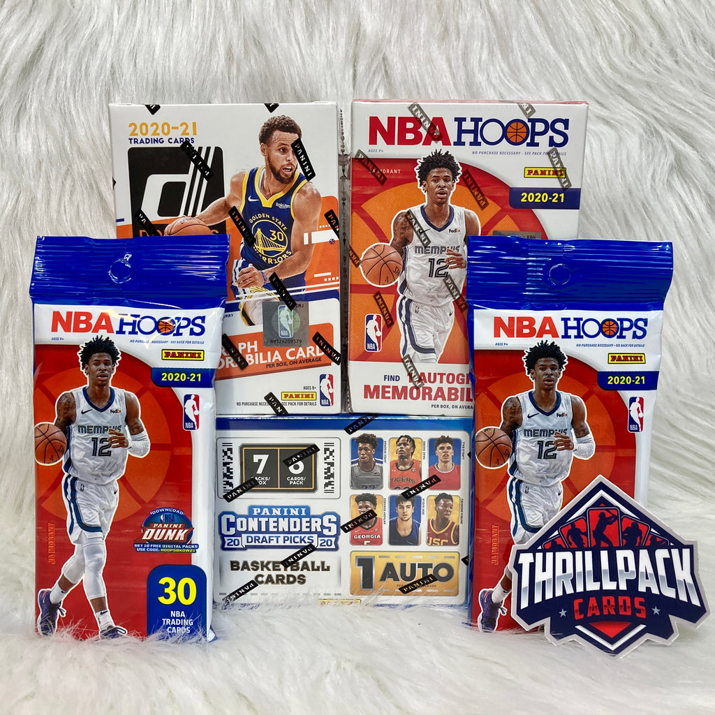 2020 DONRUSS + HOOPS + CONTENDERS DRAFT BASKETBALL MIXER W/ 3 AUTOS OR RELICS + 32 PARALLELS OR INSERTS