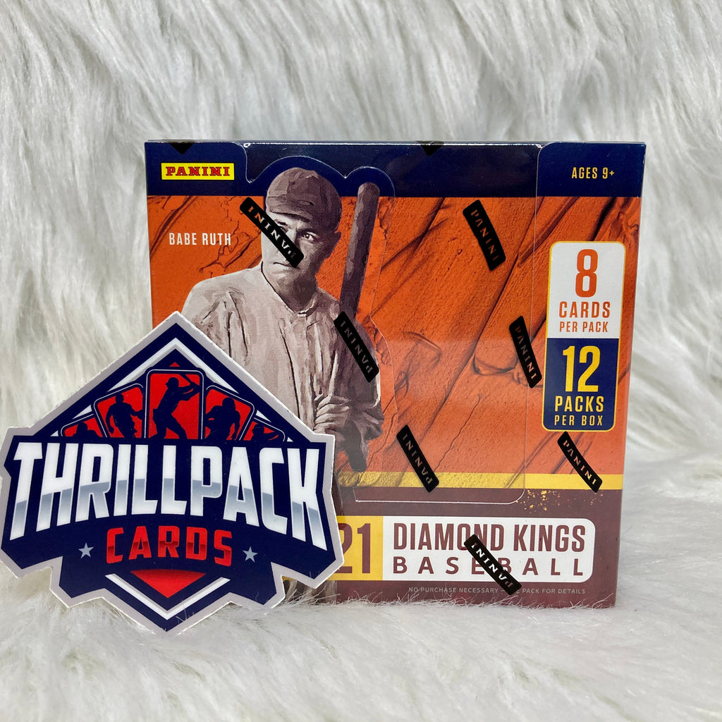 2021 DIAMOND KINGS BASEBALL SINGLE HOBBY BOX W/ 2 AUTOS OR RELICS BREAK #1 (LIMIT 5 PER PERSON)