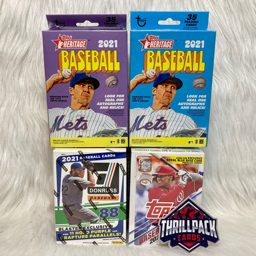 2021 DONRUSS + TOPPS SERIES 1 + HERITAGE BASEBALL MIXER W/ 16 PARALLELS