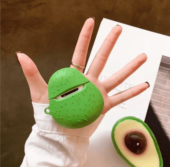 Smile Avocado Airpod Case