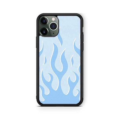 Baby Blue Fire Flame IPhone Case