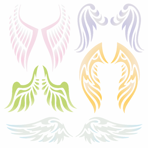Angel Wing Stencil