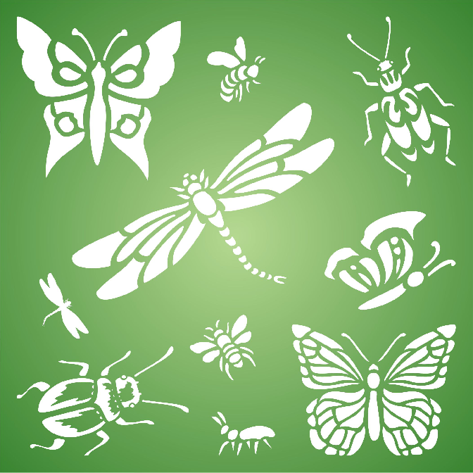 Insects & Bugs Stencil