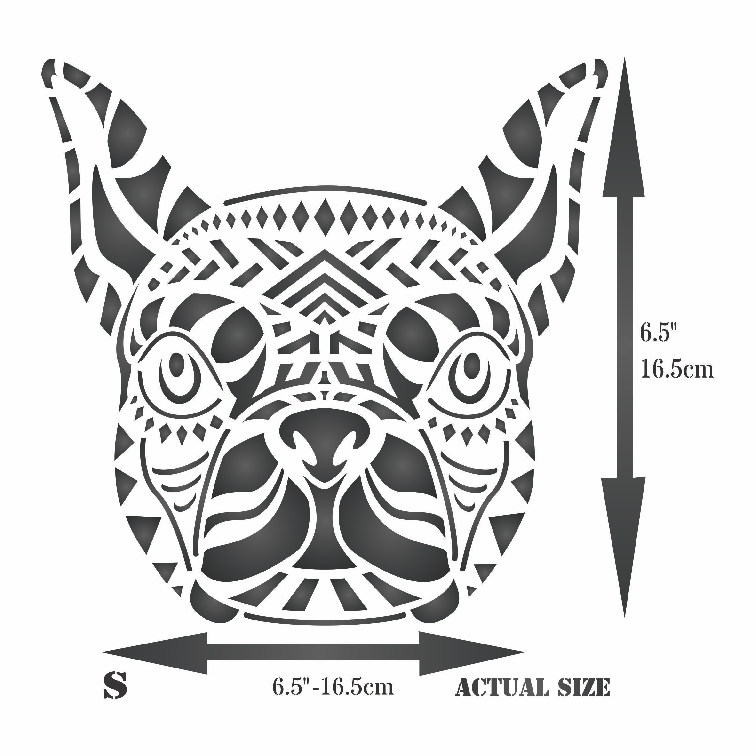 Boston Terrier Stencil