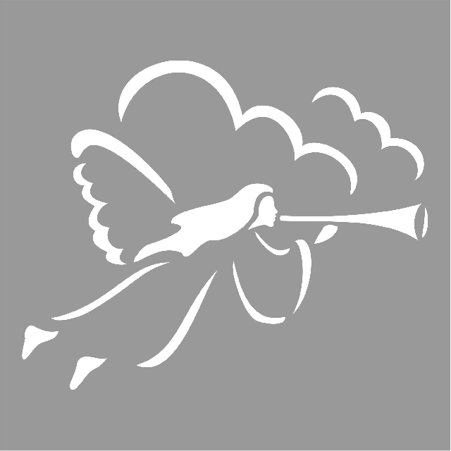 Flying Angel Stencil