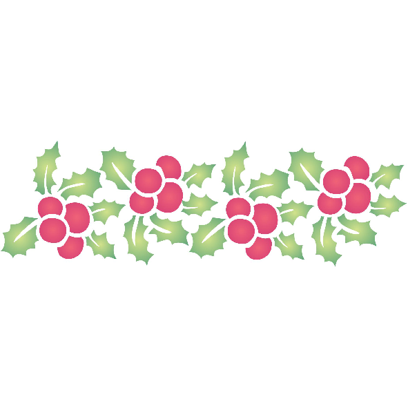 Holly Border Stencil