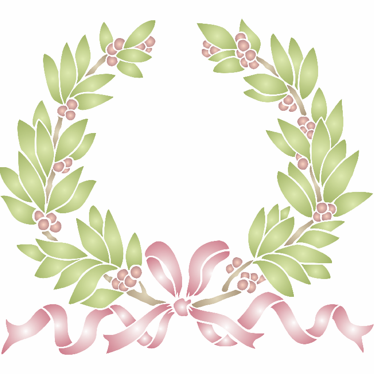 Laurel Wreath Stencil