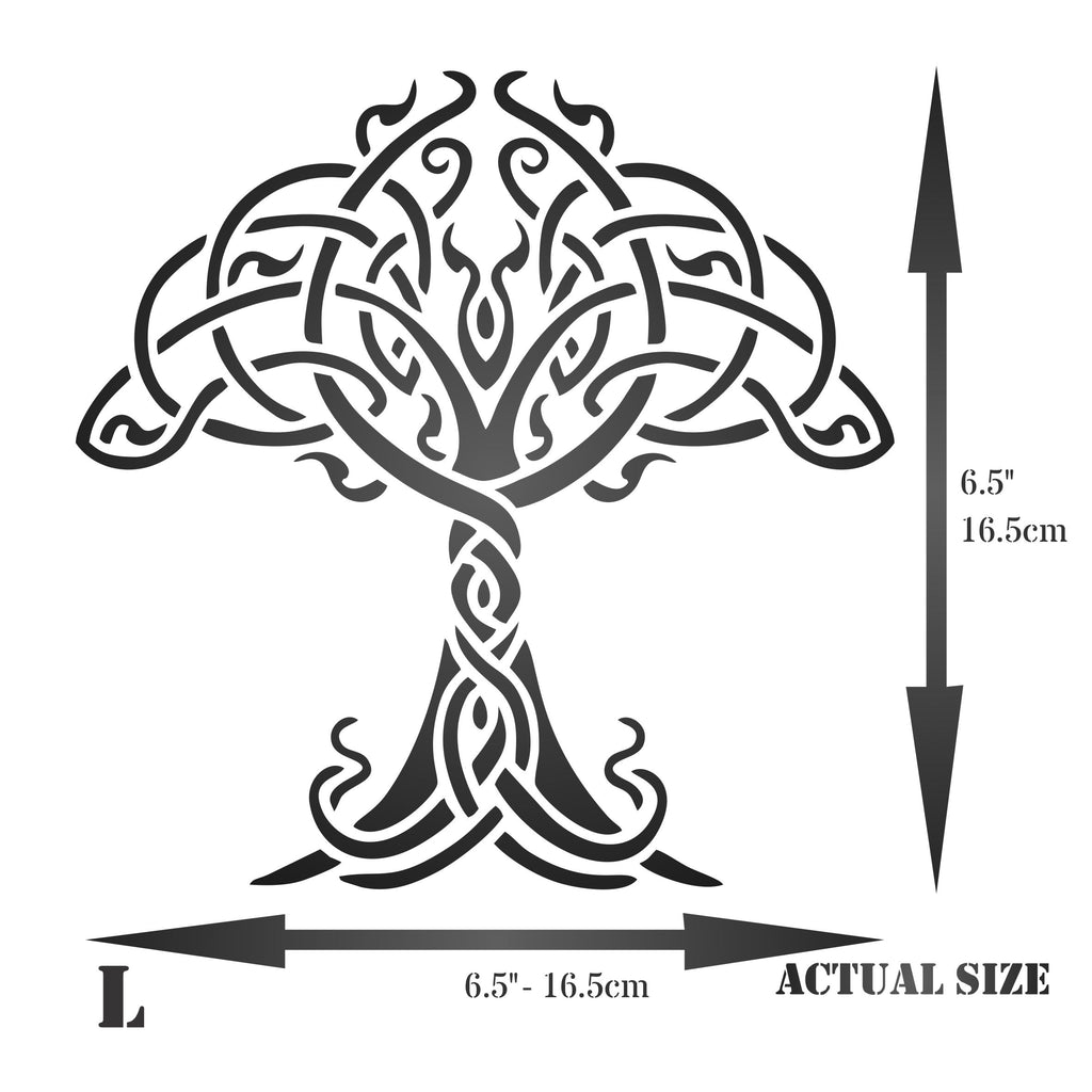 Celtic Tree of Life Stencil