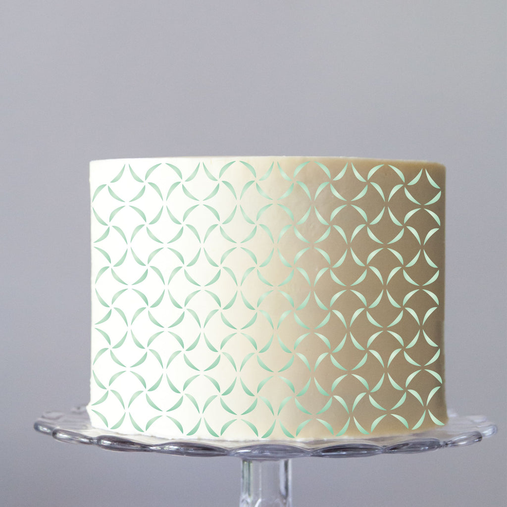 Ribbons Cake Stencil