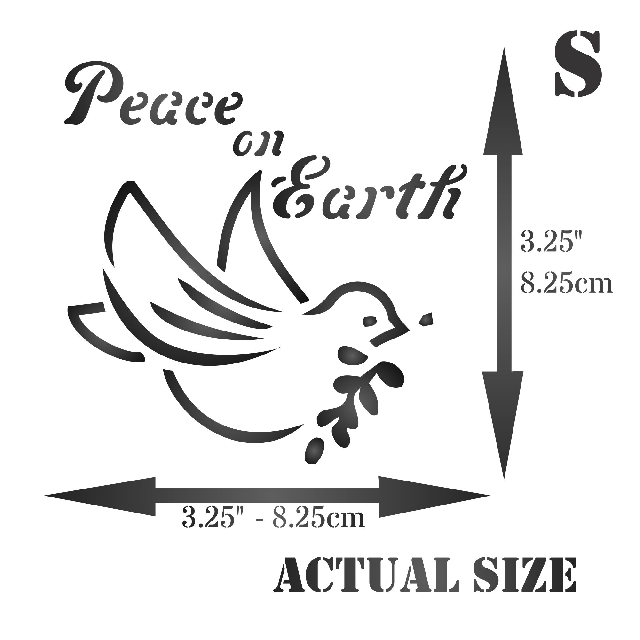 Peace on Earth Stencil