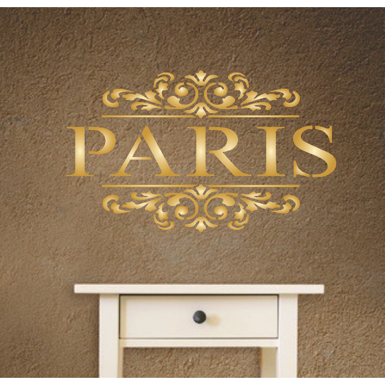 Paris Scroll Stencil