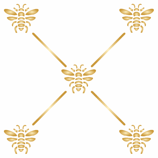 French Bee Trellis Stencil