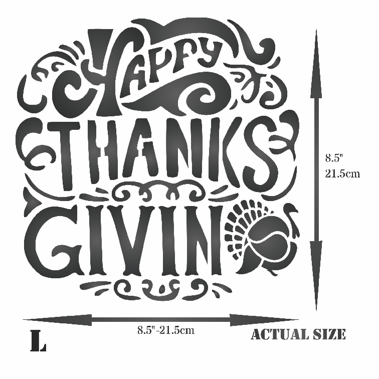 Happy Thanksgiving Stencil