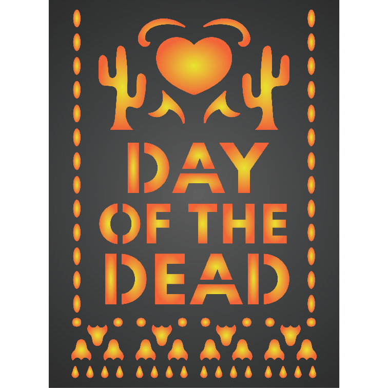 Day of the Dead Card Stencil