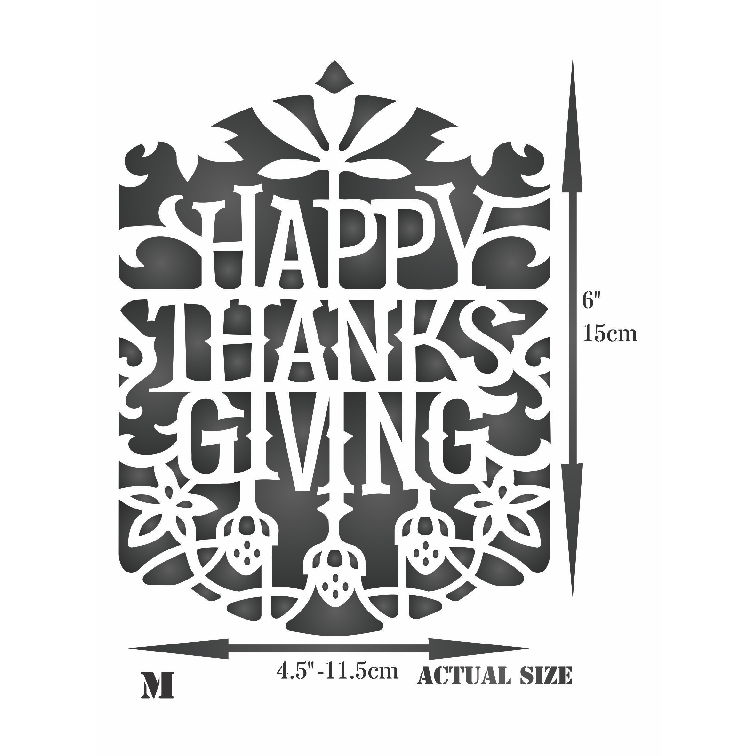 Thanksgiving Card Stencil