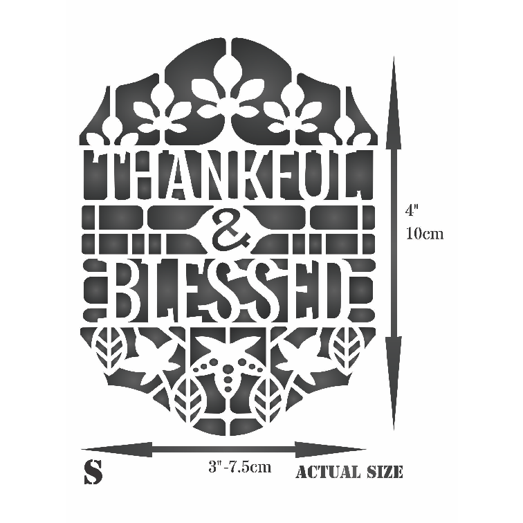 Thankful Card Stencil