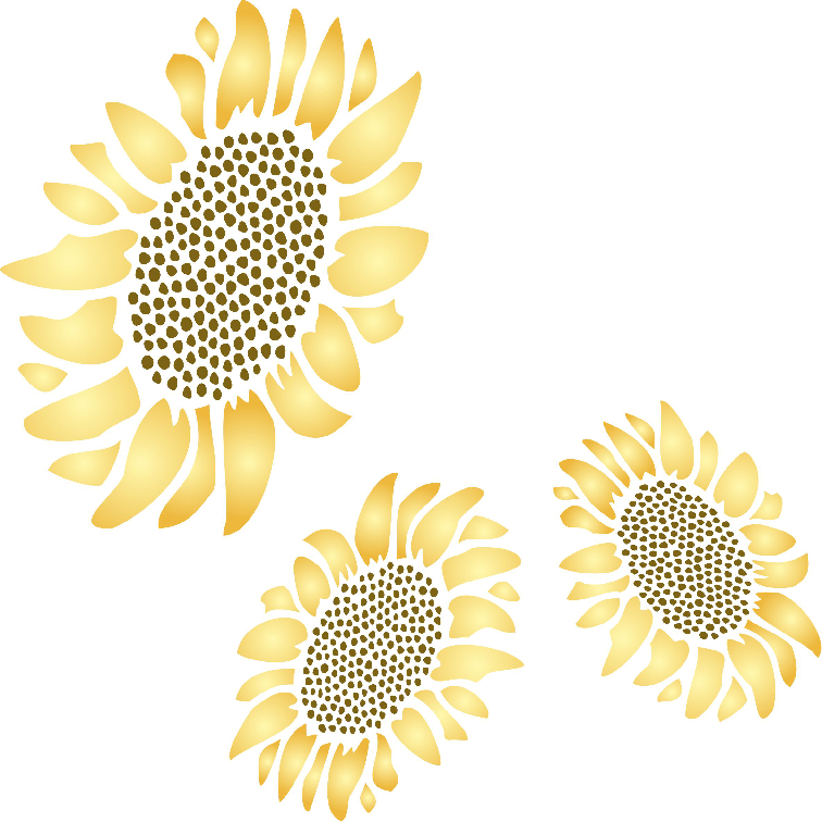 Sunflower Stencil