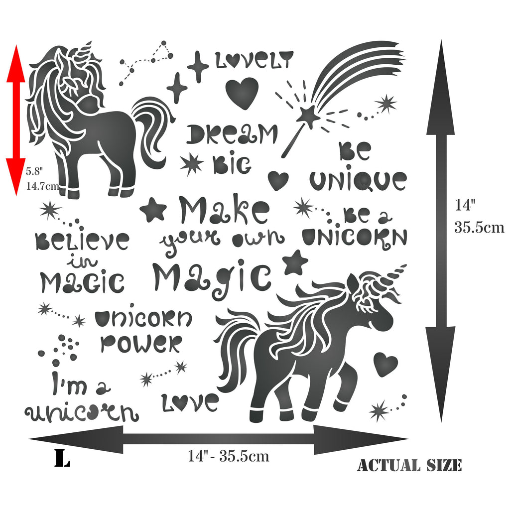 Unicorn Magic Stencil