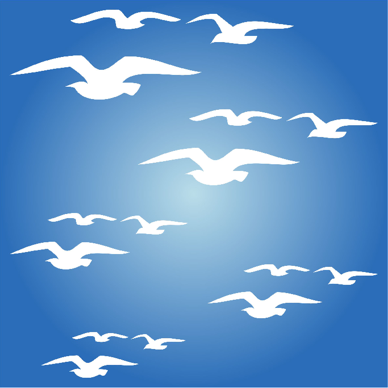 Flying Birds Stencil