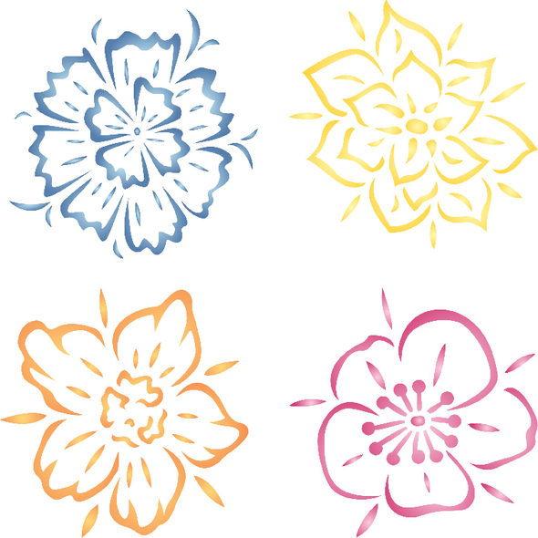 Fancy Flowers Stencil