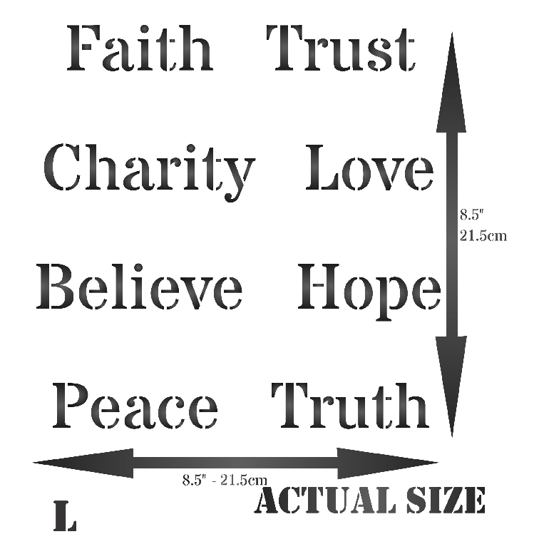 Words Of Faith Stencil