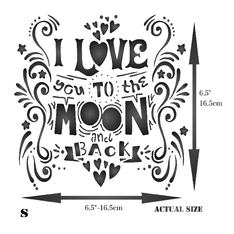 Love You To The Moon Stencil
