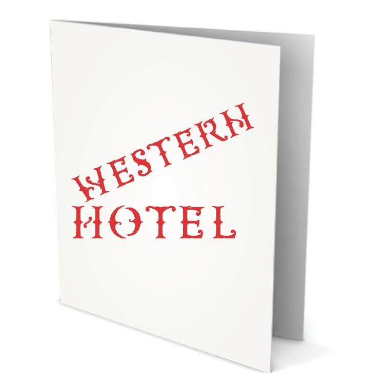 Western Letter Stencil