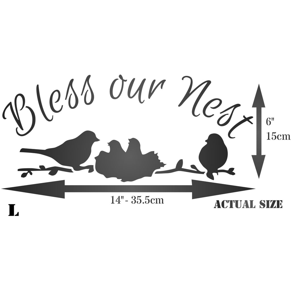 Bless our Nest Stencil