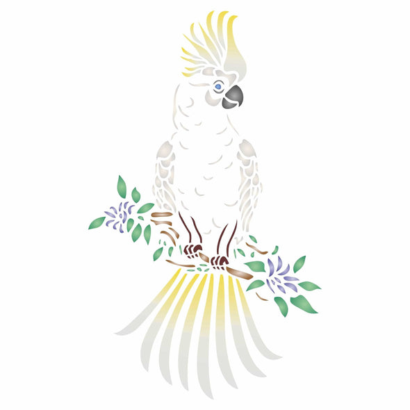 Cockatoo Stencil
