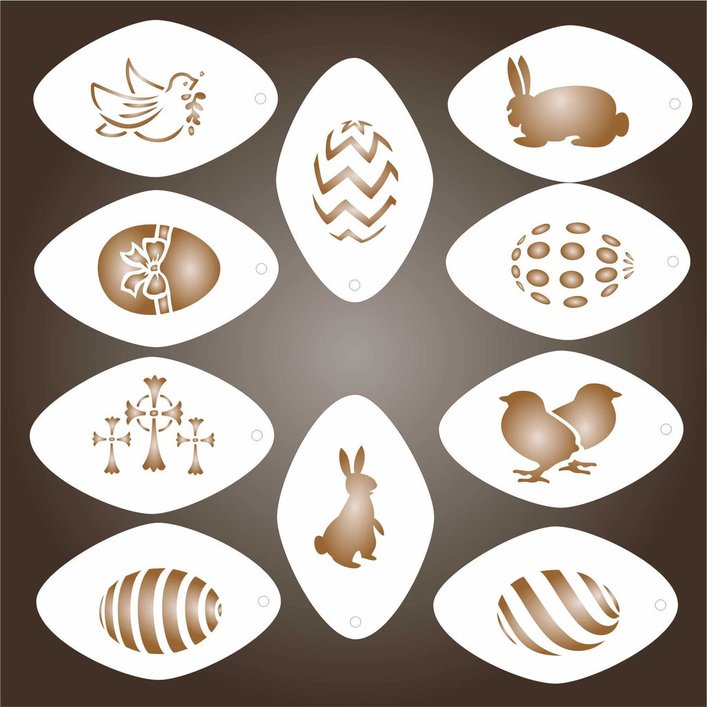 Easter Coffee Set Stencils
