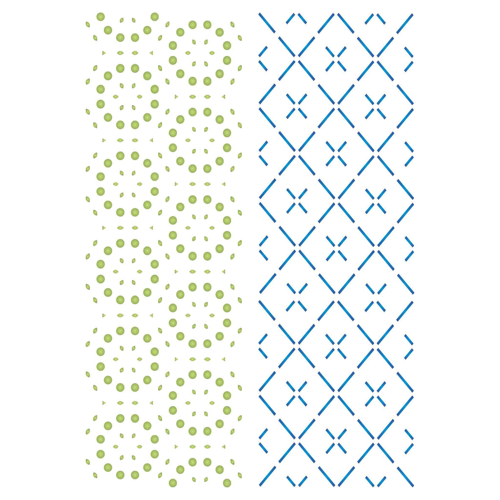Dots Dashes Layering Stencil