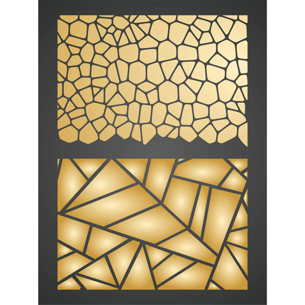 Crackle Geometric Layering Stencil