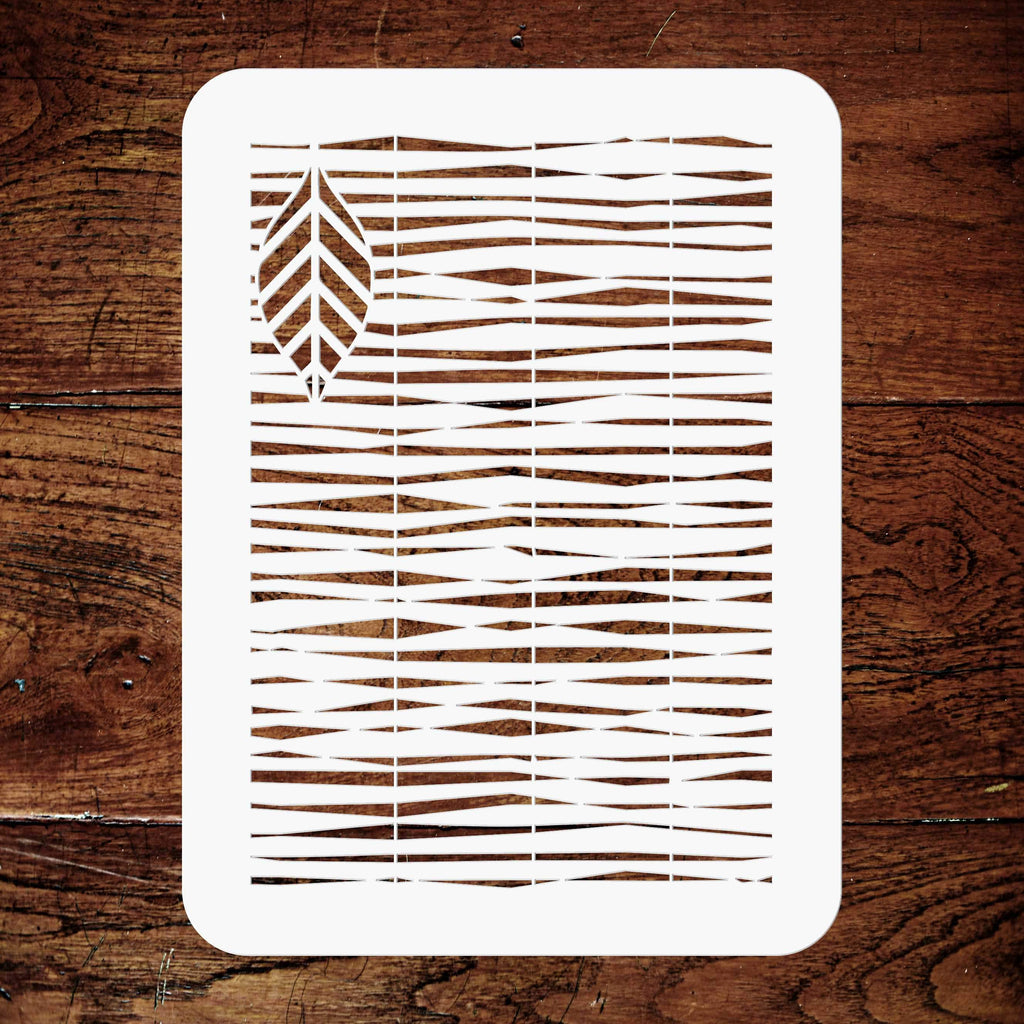 Bamboo Blind Layering Stencil