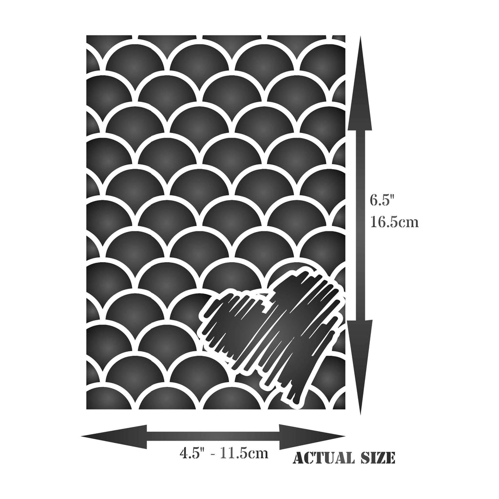Fish Scales Layering Stencil