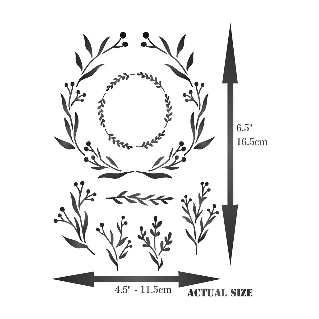Olive Leaf Layering Stencil