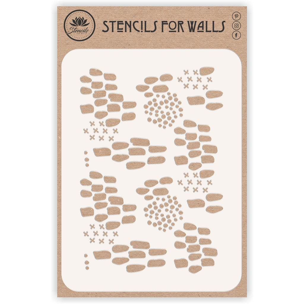 Abstract Pattern Layering Stencil