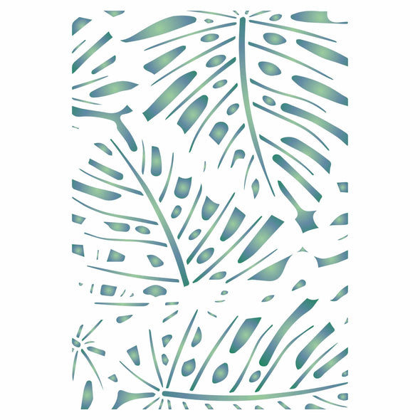 Monstera Layering Stencil