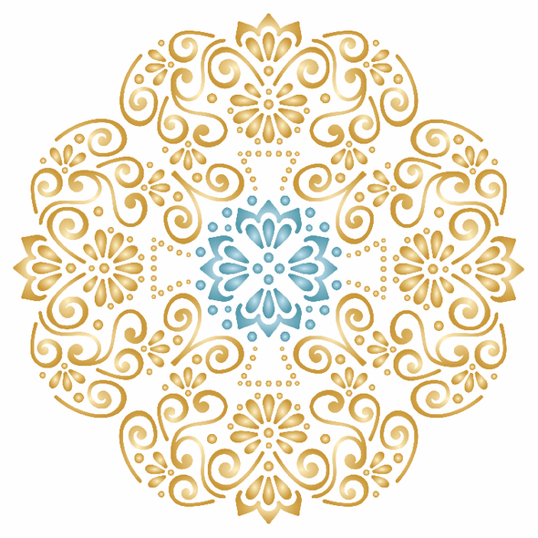 Wedding Mandala Stencil