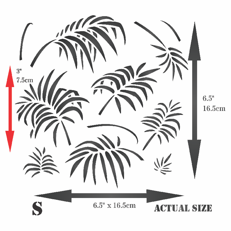 Palm Leaves Stencil