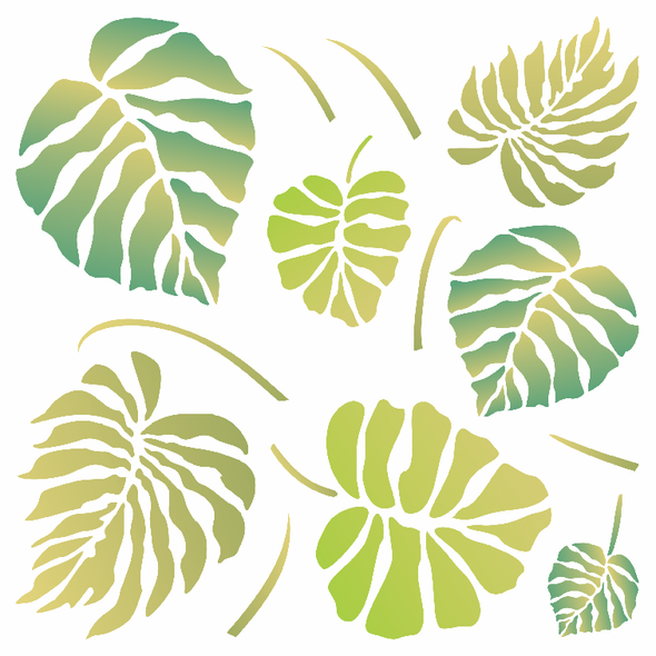 Monstera Leaves Stencil