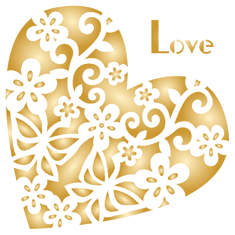 Heart Shaped Decor Stencil