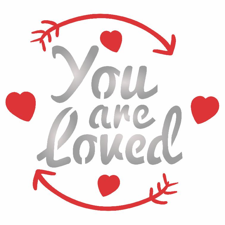 You Are Loved Stencil