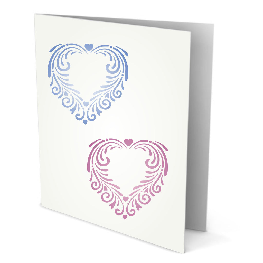 Fancy Heart Stencil