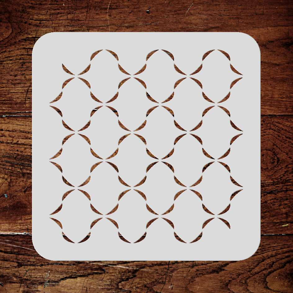 Ribbon Lattice Stencil