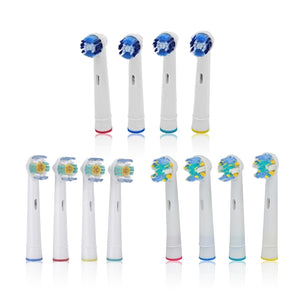 Set of 4 toothbrush replacement heads | etrolleys.com