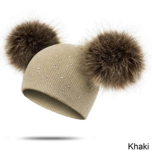 REAKIDS New Pom Knitted Winter Hat For Children