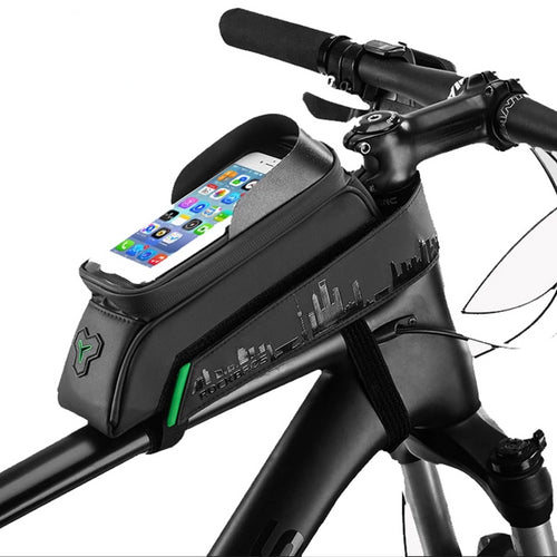 ROCKBROS Bicycle Bag Front Frame Tube 5.8/6 Inch Phone Bag Touch Screen, Waterproof
