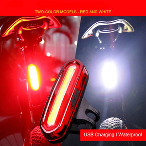 Bike Taillight / headlight Waterproof Led light (rear and front) | etrolleys.com