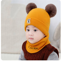 Load image into Gallery viewer, Warm 2 Pieces Baby Hat And Scarf Set For Winter