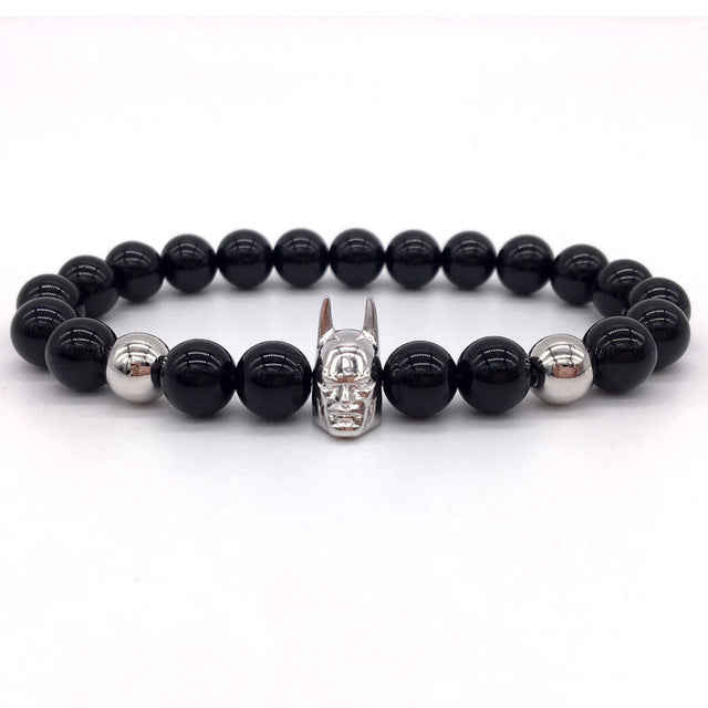 Batman Men Bracelet black silver | etrolleys.com